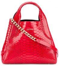 Lanvin - Borsa 'Cabas' - women - Python Skin/Calf Suede - OS - RED