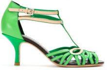 - Sarah Chofakian - color blocked pumps - women - Goat Skin - 36, 37, 35, 38 - Verde