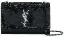 Saint Laurent - Borsa di paillette piccola - women - Viscose/Sequin - One Size - BLACK
