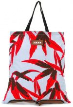 Marni - convertible folding shopper tote - women - Cotton/Leather - OS - RED