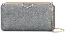 Jimmy Choo - Ellipse clutch - women - Lamb Skin/Metallic Fibre - One Size - Metallizzato