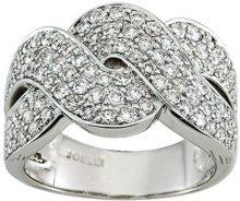Miore 7 Vd028GB2-Anello da donna, oro bianco, 750/1000-9,8Gr-1,50Ct diamanti, taglia 54