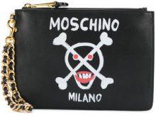 Moschino - skull clutch purse - women - Leather - OS - BLACK