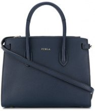 Furla - classic tote bag - women - Leather/Viscose/Nylon - OS - BLUE