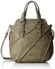 Tamaris Jutta Handbag - Borse a secchiello Donna, Grün (Khaki), 11x33x24 cm (B x H T)