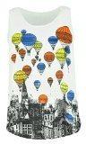 Donne un formato canotte,gilet con stampaI Colorful Hot Air Balloons