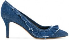Isabel Marant - Pumps 'Poween' - women - Leather/Cotone - 37, 38, 39, 40, 41 - Blu