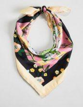 Monki - Sciarpa quadrata con stampa a fiori - Multicolore