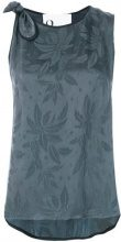 8pm - Top stampato con fiocco - women - Cupro/Polyester - XS - GREY