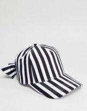 Monki - Cappello a righe con fiocco - Multicolore