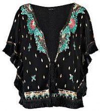 Maria Boutique Sequin Tassel Cape Kimono