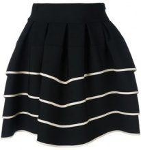 Fausto Puglisi - striped full skirt - women - Polyamide/Spandex/Elastane/Viscose - 40, 42 - BLACK