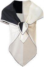 Faliero Sarti - Sciarpa bicolore - women - Silk/Cotone - OS - Nero