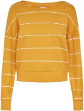 ONLY Striped Sweatshirt Women Yellow
