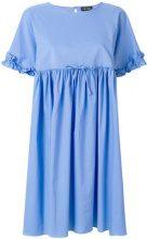 Twin-Set - Vestito a maniche corte - women - Cotone/Spandex/Elastane/Madre di Pearl - 44 - BLUE