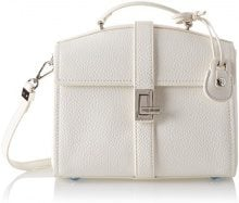 Trussardi Jeans Suzanne, Borsa a Mano Donna, Bianco (Off White), 25x23x12 cm