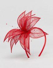 Elegance - Cerchietto con veletta - Rosso