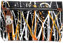 Burberry - Splash Trench Leather Pouch - women - Calf Leather/Polyester/Polyurethane - OS - BLACK