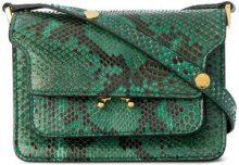 Marni - Mini borsa a spalla 'Trunk' - women - Python Skin - One Size - GREEN