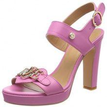 Love Moschino San.Lod.lb12/105 Vitello, Sandali con Cinturino Alla Caviglia Donna, Rosa (Pink), 36 EU