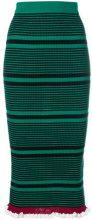 Kenzo - striped knit fitted skirt - women - Cotone/Viscose/Nylon - S, XS - GREEN