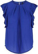 Y.A.S Pleated Short Sleeved Top Women Blue