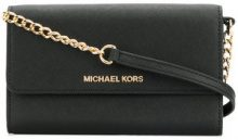 Michael Michael Kors - Borsa a spalla con placca del logo - women - Leather - OS - Nero