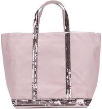Vanessa Bruno - sequin detail tote bag - women - Cotton - OS - PINK & PURPLE