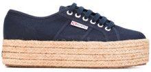 Superga - Sneakers con lacci e plateau - women - Cotton/rubber - 36, 37, 38, 39, 40, 41 - BLUE