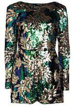 Leanne Sequin Long Sleeve Playsuit