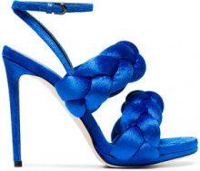 Marco De Vincenzo - Sandali - women - Leather/Velvet - 36, 37, 38, 39, 41 - BLUE