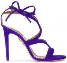Aquazzura - Sandali 'Violet Aurelie' contacco - women - Leather/Suede - 35, 35.5, 36, 36.5, 37.5, 38, 38.5, 39, 39.5 - BLUE