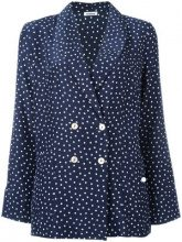 P.A.R.O.S.H. - giacca fantasia a pois 'Sispot' - women - Silk - XL - BLUE
