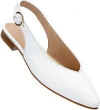 Ballerina in pelle con cinturino (Bianco) - bpc selection premium