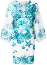 Roberto Cavalli - coral reef print dress - women - Silk/Polyamide/Spandex/Elastane - 40, 44 - BLUE