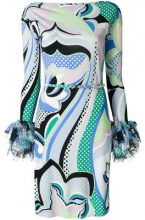 Emilio Pucci - Vestito con stampa all-over - women - Silk/Viscose - 46, 38, 42, 48, 40, 44 - BLUE