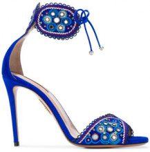 Aquazzura - Jaipur sandals - women - Leather/Suede - 35, 36, 37, 37.5, 38, 38.5, 39, 39.5 - BLUE