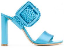 Casadei - woven buckle heeled sandals - women - Satin/Kid Leather/Leather - 35, 36, 36.5, 37, 37.5, 38, 38.5, 39, 39.5, 40, 41 - BLUE