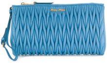 Miu Miu - Borsa Clutch con polsiera - women - Leather - OS - BLUE
