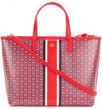 Tory Burch - printed tote bag - women - Leather - OS - RED