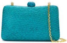 Serpui - clutch bag - women - Straw - OS - BLUE