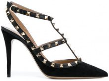 Valentino - Pumps 'Rockstud' - women - Leather/Suede - 35, 36, 37, 38, 39, 35.5, 38.5, 40, 36.5, 37.5 - BLACK