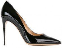 - Salvatore Ferragamo - Pumps 'Fiore' - women - Leather/Patent Leather - 7.5, 8.5, 5.5, 6, 6.5 - Nero