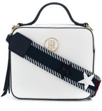 Tommy Hilfiger - Borsa a tracolla 'Tommy Monogram' - women - PVC - OS - WHITE