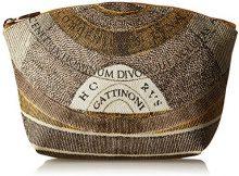 Gattinoni Gacpu0000143, Pochette da Giorno Donna, Beige (Deserto), 8x17x25 cm (W x H x L)