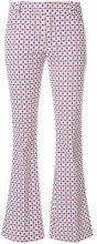 Dondup - printed flared trousers - women - Cotton/Spandex/Elastane - 25 - WHITE