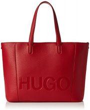 HUGO Mayfair Shopper - Borse a spalla Donna, Rosso (Bright Red), 15x29x44 cm (B x H T)