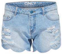 ONLY Carmen Reg Shell Edge Denim Shorts Women Blue