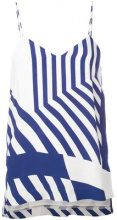 Erika Cavallini - striped vest top - women - Polyester/Viscose - 44, 38 - Blu