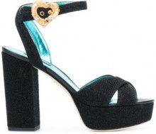 Dolce & Gabbana - Sandali con plateau - women - Leather/Lurex - 35, 36, 37, 37.5, 38, 38.5, 39, 36.5, 39.5, 40.5, 40 - BLACK